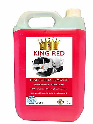 400:1 King Red TFR HGV Chassis Cleaner 5Litre  Heavy duty Traffic Film Remover