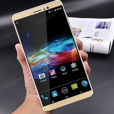"6"" Android 5.1 Dual SIM Mobile Phone Quad Core Smartphone 3G Unlocked XGODY Y14"