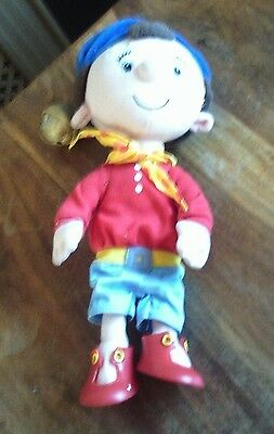 """Golden Bear Noddy Plush 12"""" Soft Toy With Hat Bell / Rattle"""