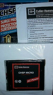 Cutler Hammer CHSPMICRO Whole Home Surge Protection Stops Surges Breaker Panel