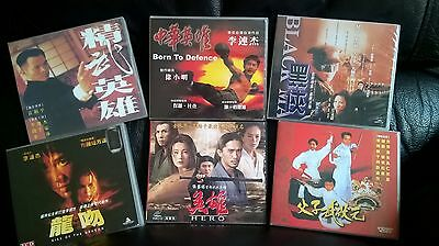 JET LI VCD's UNCUT TAIWAN EXTENDED EDITIONS VERY RARE AND LONG OUT OF PRINT !