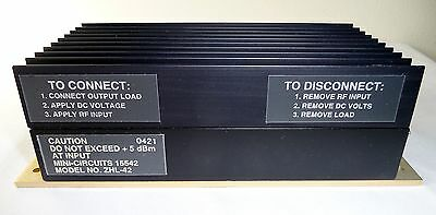 Mini-Circuits Model ZHL-42 700 to 4200 MHz SMA Med High Power Coaxial Amplifier