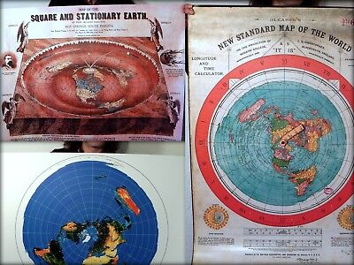 Flat Earth Wholesale Poster Bundle, Gleasons World Map + Azimuth + Ferguson 1893