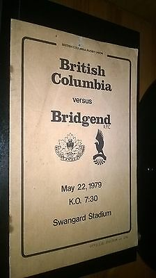 BRITISH COLUMBIA v BRIDGEND RFC 1979 - RUGBY TOUR MATCH