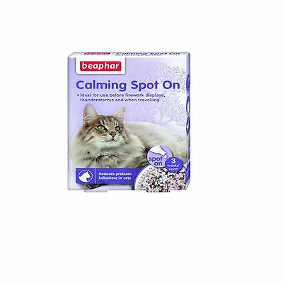 Beaphar Calming Spot On for Cats Reduce Stress-Posted Today if Paid Before 1pm