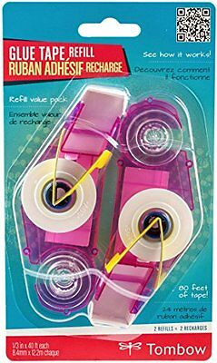 Tombow USA - Crafts Tombow Stamp Runner Dot Adhesive Refill, Clear, 2-Pack