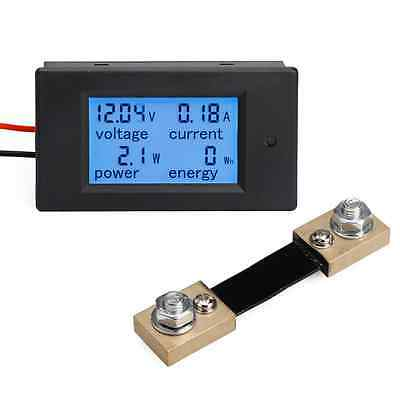 DROK® Digital Multimeter DC 6.5-100V 100A Voltage Amperage Power Energy Meter D