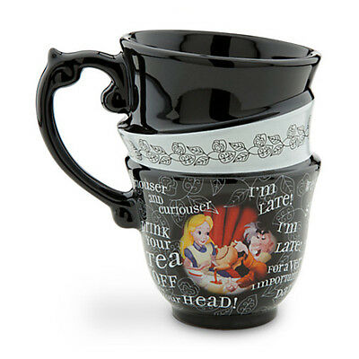 Disney Parks Alice In Wonderland Triple Stack Mug Tea Cup Cups Mad Tea Party