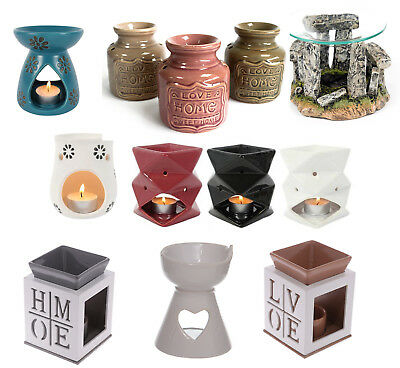 Decorative Home Decorated Wood and Ceramic Oil Burner / Fragrance burning oils