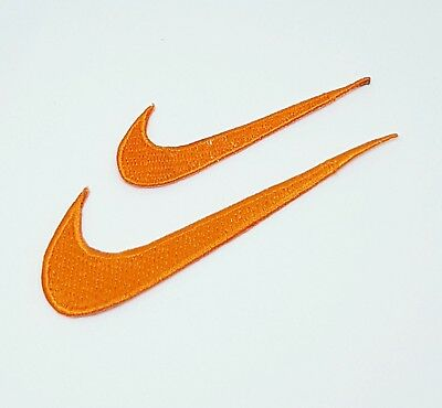 NIKE embroidered iron on sew on sports logo patch orange