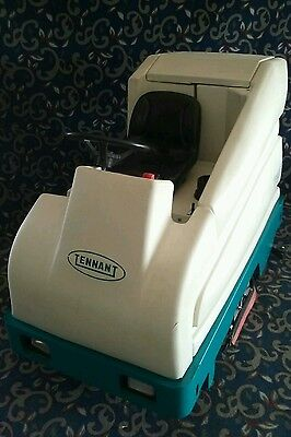 """Tennant 36"""" ride on floor sweeper scrubber with only 300 hours and FREE shipping"""
