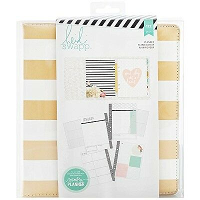 American Crafts Heidi Swapp Memory Planner Large Gold Foil Stripes Planner 122
