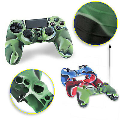Custodia Silicone Controller Per Sony Playstation 4 Ps4 Joystick Cover Verde
