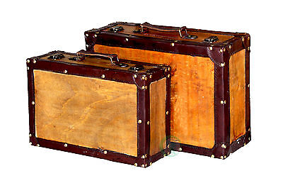 New Vintiquewise Old Style Vintage Suitcase (Set of 2), QI003057.2