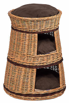 Three Tier Cat House Basket with cushions