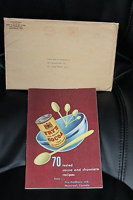 1952 Fry's Cocoa 70 Tested Cocoa & Chocolate Recipes Book in Original Envelope