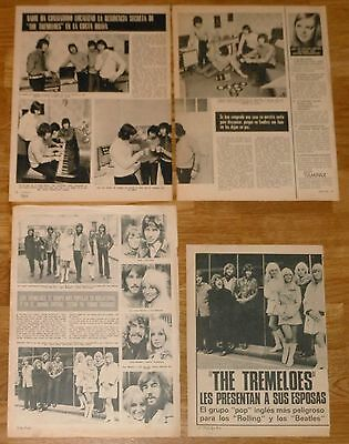 THE TREMELOES Spain clippings 1969-1970 photos vintage magazine articles pop