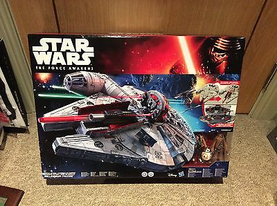 Star Wars The Force Awakens Battle Action Millennium Falcon  SEALED MINT