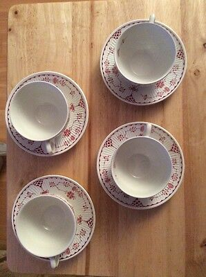 Four Furnivals Denmarks Cups and Saucers