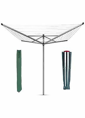 BRABANTIA 60m Rotary Airer / Dryer 4 Arm Washing Line Lift-O-Matic + Spike&Cover