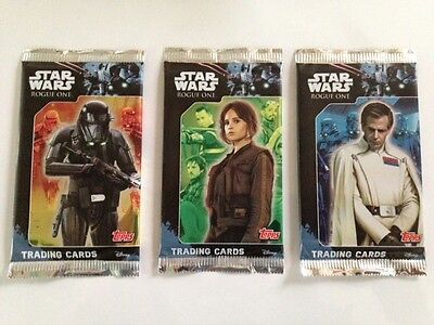 Star Wars Rogue One Trading Card Booster Pack x 3 (Sealed) 2016 Topps UK Edition