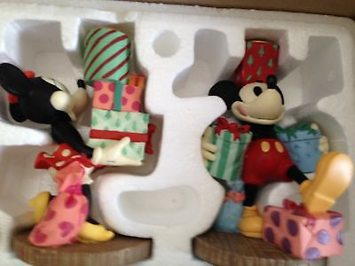 Disney Mickey And Minnie Mouse.. Candle Holders...1995..(New In The Box)