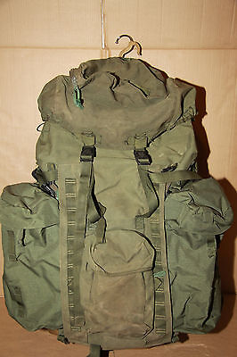 Genuine British Army Olive Bergen Rucksack120 L With NEW Side Pouches Longback
