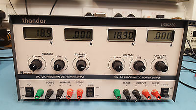 Thandar TS3022S precision variable bench power supply PSU twin channel 30V 2A
