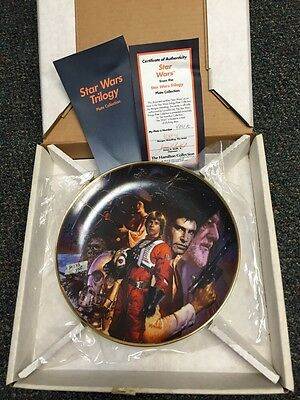 "9 1/4"" Collector Plate: STAR WARS (TRILOGY)   1992 By MORGAN WEISTLING"