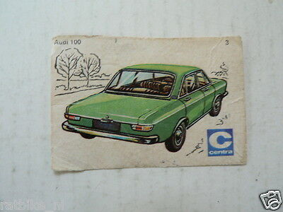 C03 Centra Lucifers,Matchbox Labels Oldtimer Car Audi 100