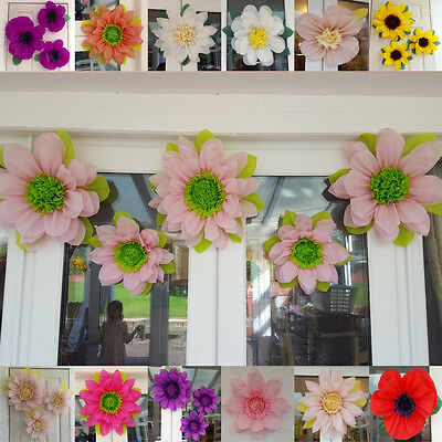 pompom giant flower wall decorations  Set of 5xtissue paper flower wedding decor