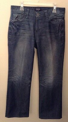Guess Men's Authentic Original Straight Leg Jeans, Dark Wash Size ...