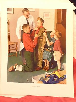"""SCOUTING THROUGH THE EYES OF NORMAN ROCKWELL """"MIGHTY PROUD""""  PRINT 11""""x14"""""""