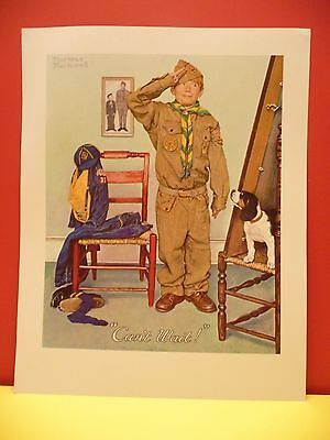 """BSA THROUGH THE EYES OF NORMAN ROCKWELL """"CAN'T WAIT!"""" 11""""x14"""" YR. 1960-1970"""