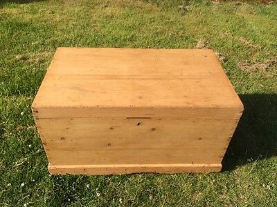 Late Victorian Yellow Pine Trunk / Chest / Box