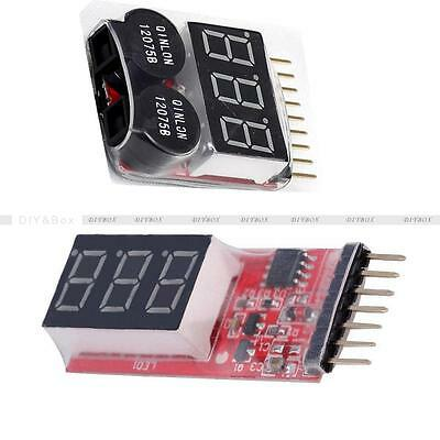 2-6S 1-8S Indicator Lipo Li-ion Battery Voltage Tester Voltage Buzzer Monitor