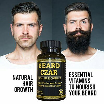Beard Czar Facial Hair Growth Complex - GROW A Full Viking BEARD Reduce Gray