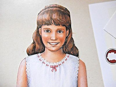 """American Girl Samantha Paper Doll & Clothes -Theater (?)Pages Of Book - 10"""" Tall"""