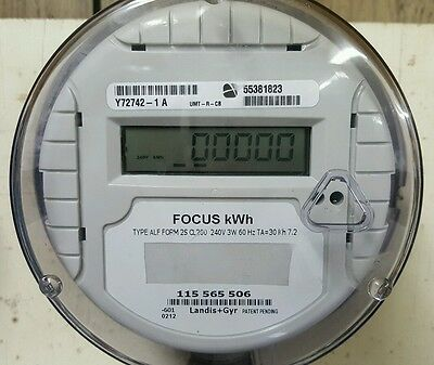 Solar Meter - Net Meter - Delivered and Received - 240 Volt Landis Gyr Focus