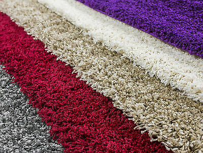 Brand New Shaggy Rugs Carpets Small Large Size Soft Thick Plain Rug