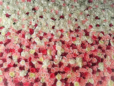 Flower Wall For *HIRE ONLY* 6ft'4ft Pink Fusion