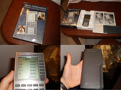 Texas Instruments vintage calcolatrice calculator Financial Investment Analyst