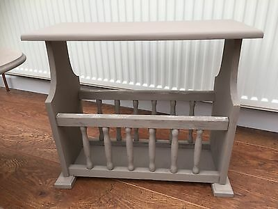 Shabby Chic, Magazine Rack,wood, In Colour Cocoa