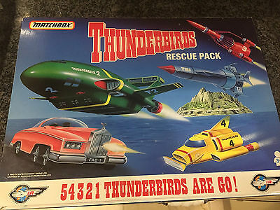 1992 Metal Matchbox Thunderbirds Rescue Pack Vehicle Set Tb-700 Unopened & Boxed