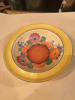 Original Clarice Cliff Gay Day Bowl Bizarre Bowl Newport Pottery Hand Painted