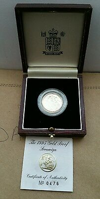 1995 Boxed Proof Gold Full Sovereign With Certificate
