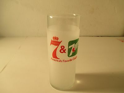 Vintage Seagram's Wiskey & 7UP  7 UP lSoda Pop America's Favorite Couple Glass