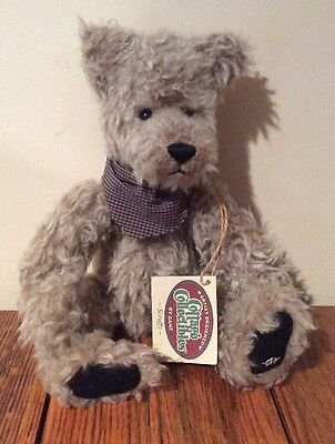 Ganz Artist Designed Cottage Collectibles Scruffy Plush Teddy Bear with Bandana