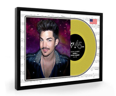 Adam Lambert Queen Framed Gold Disc Vinyl Display Premium Edition