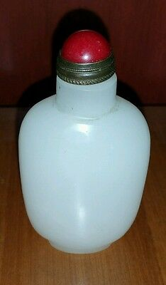 18th Century Chinese Qing Dynasty White Jade Snuff Bottle